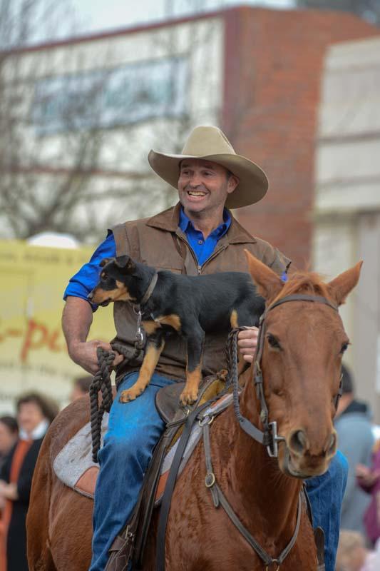 Boof Carlin in parade 2018